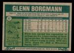 1977 Topps #87  Glenn Borgmann  Back Thumbnail