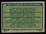 1977 Topps #473   -  Andre Dawson / Gene Richards / John Scott / Denny Walling Rookie Outfielders   Back Thumbnail