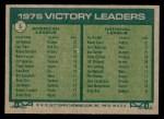 1977 Topps #5   -  Jim Palmer / Randy Jones Victory Leaders   Back Thumbnail