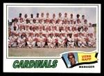 1977 Topps #183   -  Vern Rapp Cardinals Team Checklist Front Thumbnail