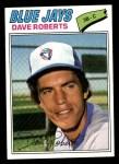 1977 Topps #537  Dave Roberts  Front Thumbnail