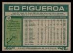 1977 Topps #195  Ed Figueroa  Back Thumbnail