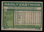 1977 Topps #45  Rawly Eastwick  Back Thumbnail
