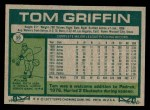 1977 Topps #39  Tom Griffin  Back Thumbnail