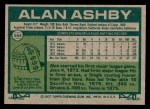 1977 Topps #564  Alan Ashby  Back Thumbnail