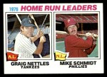 1977 Topps #2   -  Graig Nettles / Mike Schmidt HR Leaders   Front Thumbnail