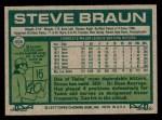 1977 Topps #606  Steve Braun  Back Thumbnail