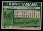1977 Topps #200  Frank Tanana  Back Thumbnail