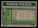1977 Topps #643  Mike Pazik  Back Thumbnail