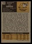 1971 Topps #160  Bob Griese  Back Thumbnail