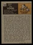 1971 Topps #199  Bob Vogel  Back Thumbnail