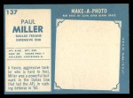 1961 Topps #137  Paul Miller  Back Thumbnail