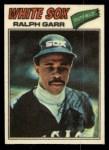 1977 Topps Cloth #18  Ralph Garr  Front Thumbnail