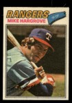 1977 Topps Cloth #20  Mike Hargrove  Front Thumbnail