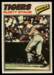 1977 Topps Cloth #46  Rusty Staub  Front Thumbnail