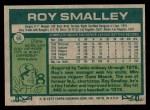 1977 Topps #66  Roy Smalley  Back Thumbnail