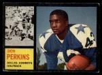1962 Topps #41  Don Perkins  Front Thumbnail