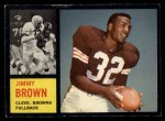 1962 Topps #28  Jim Brown  Front Thumbnail