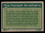 1977 Topps #632   -  Bob Forsch / Ken Forsch Big League Brothers Back Thumbnail