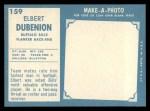 1961 Topps #159  Elbert Dubenion  Back Thumbnail