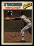 1977 Topps Cloth #10  Rod Carew  Front Thumbnail