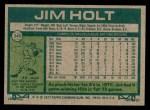1977 Topps #349  Jim Holt  Back Thumbnail