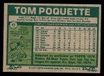 1977 Topps #93  Tom Poquette  Back Thumbnail