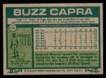 1977 Topps #432  Buzz Capra  Back Thumbnail