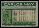 1977 Topps #568  Carlos May  Back Thumbnail