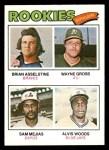 1977 Topps #479   -  Wayne Gross / Sam Mejias / Alvis Woods / Brian Asselstine Rookie Outfielders   Front Thumbnail