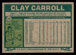 1977 Topps #497  Clay Carroll  Back Thumbnail