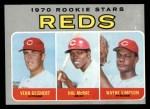 1970 Topps #683   -  Hal McRae / Wayne Simpson / Vern Geishert Reds Rookies Front Thumbnail