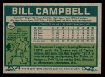 1977 Topps #166  Bill Campbell  Back Thumbnail