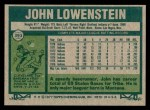1977 Topps #393  John Lowenstein  Back Thumbnail