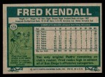 1977 Topps #576  Fred Kendall  Back Thumbnail