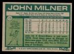 1977 Topps #172  John Milner  Back Thumbnail