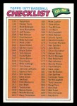 1977 Topps #208   Checklist 2 Front Thumbnail