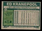 1977 Topps #201  Ed Kranepool  Back Thumbnail