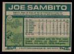 1977 Topps #227  Joe Sambito  Back Thumbnail