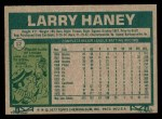 1977 Topps #12  Larry Haney  Back Thumbnail
