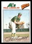 1977 Topps #583  Paul Lindblad  Front Thumbnail