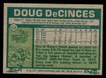 1977 Topps #216  Doug DeCinces  Back Thumbnail