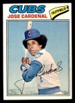 1977 Topps #610  Jose Cardenal  Front Thumbnail