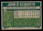 1977 Topps #19  John D'Acquisto  Back Thumbnail