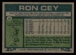 1977 Topps #50  Ron Cey  Back Thumbnail