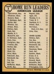 1968 Topps #6   -  Frank Howard / Harmon Killebrew / Carl Yastrzemski AL HR Leaders Back Thumbnail