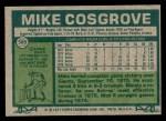 1977 Topps #589  Mike Cosgrove  Back Thumbnail