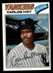 1977 Topps #568  Carlos May  Front Thumbnail