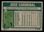 1977 Topps #610  Jose Cardenal  Back Thumbnail