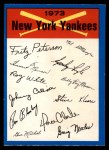 1973 O-Pee-Chee Blue Team Checklist #17   Yankees Team Checklist Front Thumbnail